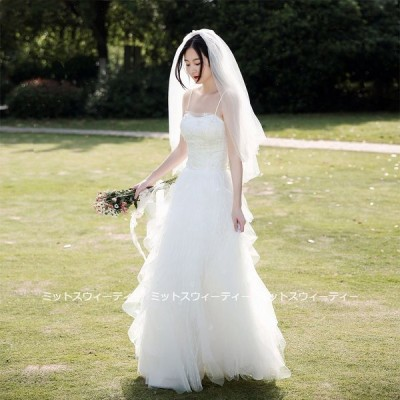 ウェディングドレス 二次会 リゾートドレス 結婚式 ブライダル 前撮り キャミソール 花嫁 ワンピース ガーデンウェディング 後撮り ハネムーンフォト ホワイト