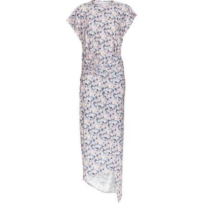 パコラバンヌ Paco Rabanne レディース ワンピース ミドル丈 ワンピース・ドレス Asymmetric floral midi dress Bleached Liberty