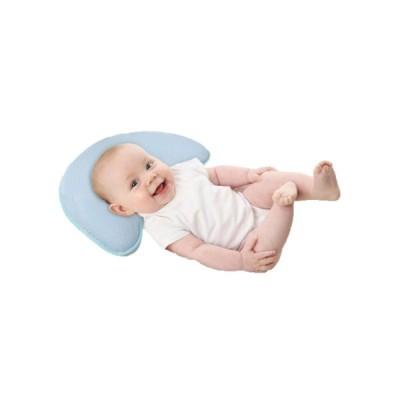 (SOU & RIRE) ベビー枕 絶壁 斜頭 向き癖 変形 頭の形が良くなる 通気性 綿100% ブルー 替えカバー付