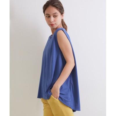 【ナージー】 UV&接触冷感 ノースリーブAラインTシャツ レディース ブルー F NERGY