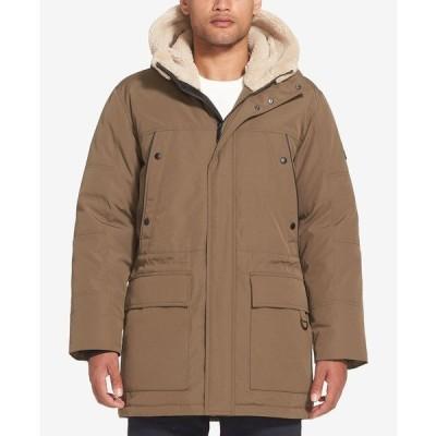 ショーンジョン ジャケット&ブルゾン アウター メンズ Men's Long Hooded Bomber Jacket Khaki