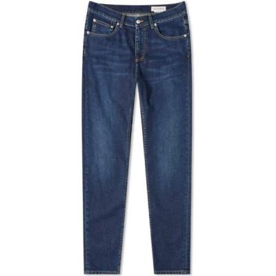 アレキサンダー マックイーン Alexander McQueen メンズ ジーンズ・デニム ボトムス・パンツ Back Logo Jeans Blue Washed