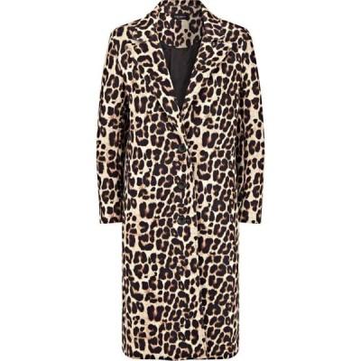 ジュームズ レイクランド James Lakeland レディース コート アウター Leopard Print 3 Button Coat Print