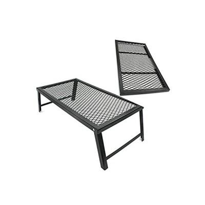 鉄製ロストルテーブル 焚き火サイドテーブル 直火・自立可 鉄網 キャンプ アウトドア用品