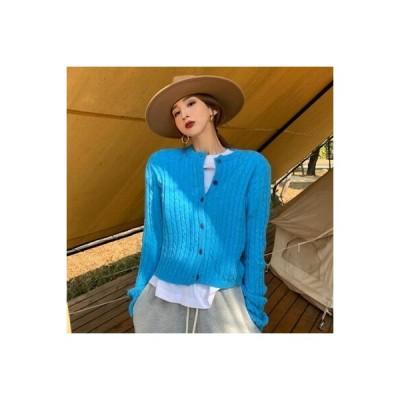 【送料無料】レトロ ニットのセーター カーディガンジャケット 女 秋冬 年 新しいデザイン | 364331_A64435-8361246