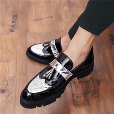 ローファースリッポン ビジネスシューズ タッセルシューズ 紳士靴 メンズ  ウイングチップ レザー 通気性 ローカット低反発