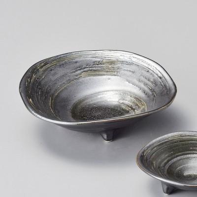 和食器 黒渦三ッ足 中鉢 ボウル 15.5×4.7cm うつわ 陶器 おしゃれ おうち
