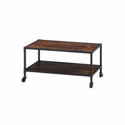センターテーブル W840×D550×H430mm おしゃれ ブラウン(代引不可)【送料無料】