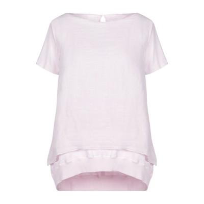 EUROPEAN CULTURE スウェットシャツ ピンク XS コットン 56% / ラミー 40% / ポリウレタン 4% スウェットシャツ