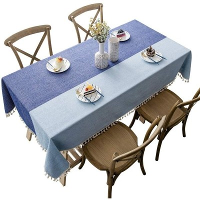 CHOZAN テーブルクロス コットンリネン材質 耐用 肌触り良い タッセルエッジ おしゃれ 汚れ防止 インテリア キッチン/ダイニング/リビング/パ