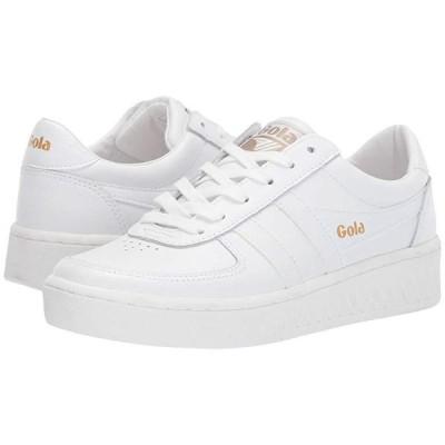 ゴーラ Grandslam Leather レディース スニーカー White/White/White
