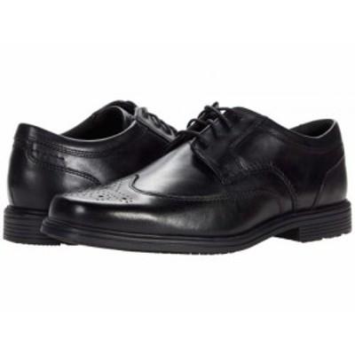 Rockport ロックポート メンズ 男性用 シューズ 靴 オックスフォード 紳士靴 通勤靴 Taylor Waterproof Wing Tip Black【送料無料】