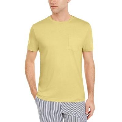 クラブルーム Tシャツ トップス メンズ Men's Solid Pocket T-Shirt, Created for Macy's Citron Aura
