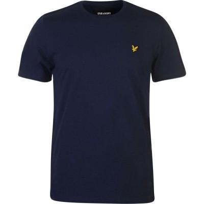 ライル アンド スコット Lyle and Scott メンズ Tシャツ トップス Side Stripe Tee Navy Z