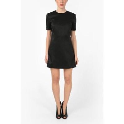 SAINT LAURENT PARIS/イヴ サンローラン Black レディース Silk Short Sleeve Mini Dress dk