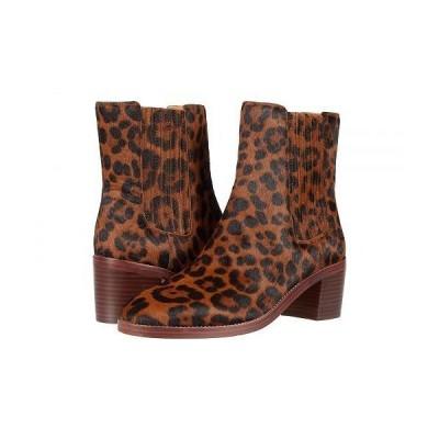 Madewell レディース 女性用 シューズ 靴 ブーツ アンクル ショートブーツ Desi High Shaft Chelsea Boot - Maple Syrup Multi Leopard