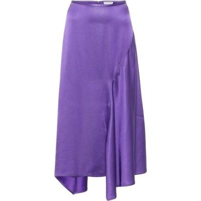 アクネ ストゥディオズ Acne Studios レディース ひざ丈スカート スカート Asymmetric satin midi skirt Electric Purple