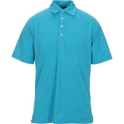 フェデーリ FEDELI メンズ ポロシャツ トップス Polo Shirt Sky blue