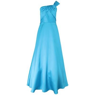 モニークルイリエ MONIQUE LHUILLIER ロングワンピース&ドレス スカイブルー 8 ポリエステル 100% ロングワンピース&ドレス