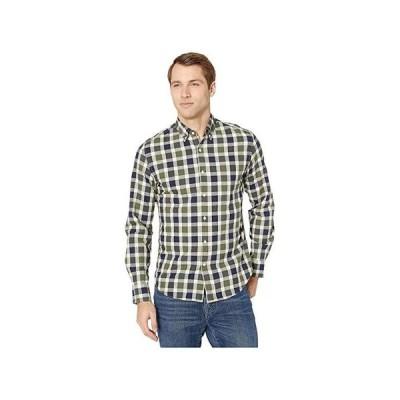 J.Crew Slim Stretch Secret Wash Shirt In Organic Cotton Giant Gingham メンズ シャツ トップス Giant Gingham Green/Black