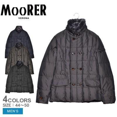 ムーレー ダウンジャケット メンズ シーロ KM MOORER A20M020 ブラック 黒 グレー ネイビー 紺 アウター ジャケット ダウン 上着