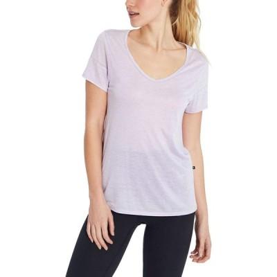 マリカ Marika レディース Tシャツ Vネック トップス Vivion Shorts Sleeve V-Neck T-Shirt Pastel Lilac