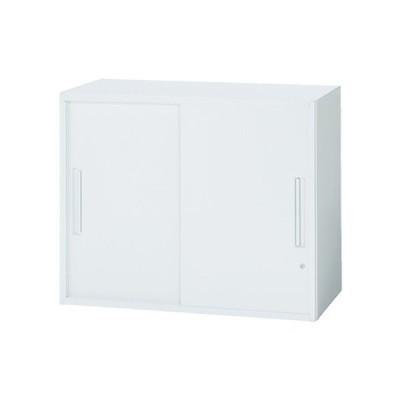 引違い書庫 ユニットシステム 本棚 ファイル棚 ロッカー スチール棚 収納 オフィス家具 会社 ホワイト 書類 連結 スライディングドア TF-C-07-9040-OW