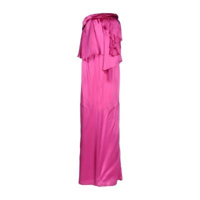 ガリアーノ GALLIANO ロングワンピース&ドレス フューシャ 40 シルク 100% ロングワンピース&ドレス