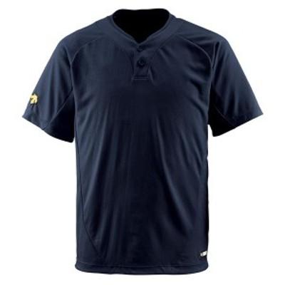 DESCENTE ヤキュウ ソフト 2ボタンTシャツ 16SS ブラック Tシャツ(db201-blk)
