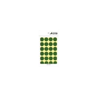 エーワン カラーラベル 緑 丸型 20mmφ 07043