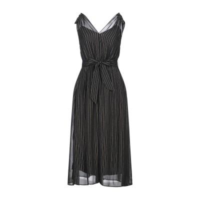 PENNYBLACK 7分丈ワンピース・ドレス ブラック 44 レーヨン 97% / 金属繊維 2% / ナイロン 1% 7分丈ワンピース・ドレス