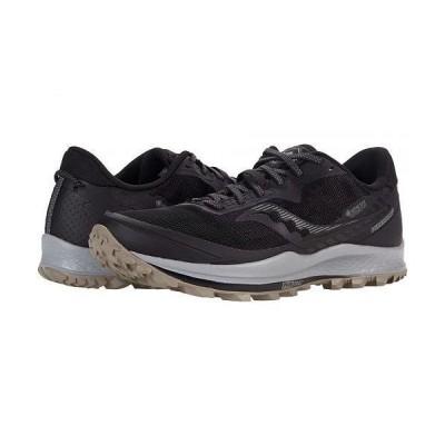 Saucony サッカニー メンズ 男性用 シューズ 靴 スニーカー 運動靴 Peregrine 11 GTX - Black/Gravel