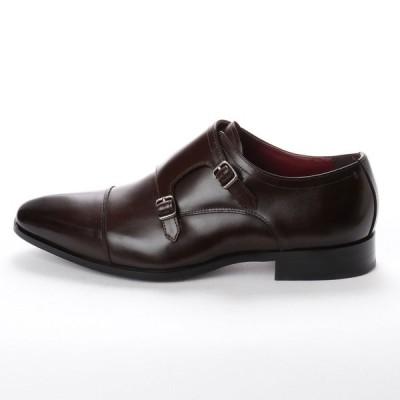 マドラス  M352 日本製  本革  ビジネスシューズ  紳士靴 ダブルモンク メンズシューズ 牛革 社会人 靴 結婚式 ダークブラウン