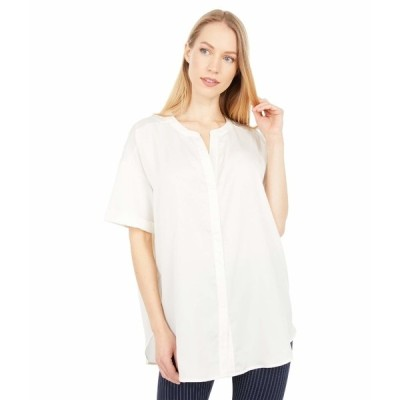 リジー シャツ トップス レディース Leah Short Sleeve Satin Jersey Blouse Off-White