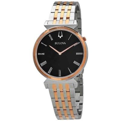 ブローバ 腕時計 Bulova Regatta クォーツ Black Dial Two-tone メンズ Watch 98A234