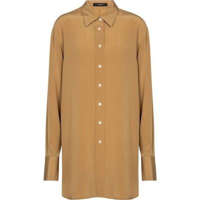 ジョゼフ Joseph レディース ブラウス・シャツ トップス Brooks silk crepe shirt Almond