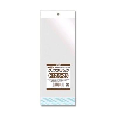 シモジマ ヘイコー 透明袋 OPP クリスタルパック ヘッダー付 H12.5-25 100枚入 厚0.04×幅125×高250+ヘッダー40+テープ