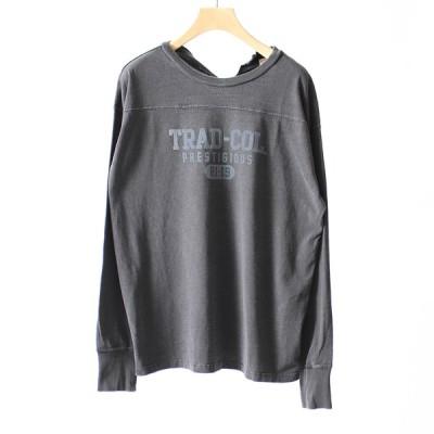 ハチイチブランカ +81 BRANCA ロゴプリントフットボールTシャツ 19AW-CS18
