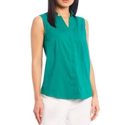 インベストメンツ レディース シャツ トップス Whitney Gold Label Stretch Non-Iron Sleeveless Button Front Shirt
