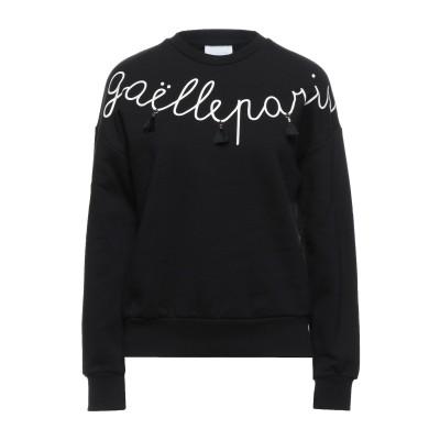 GAëLLE Paris スウェットシャツ ブラック 0 コットン 100% スウェットシャツ