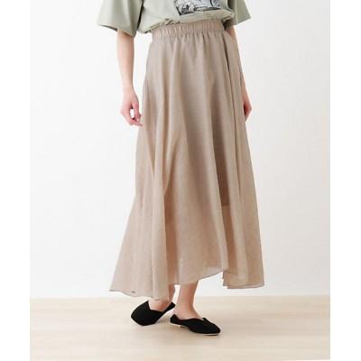 <SHOO LA RUE(Women)/シューラルー> カラースカート ベージュ052【三越伊勢丹/公式】