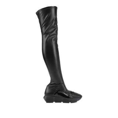 VIC MATIĒ ブーツ ブラック 39 革 / 紡績繊維 ブーツ