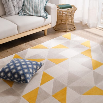[200×200] Mサイズ 正方形ラグ ホットカーペット・床暖房使用可 ウィルトン織 一人暮らし ワンルーム ベルギー産