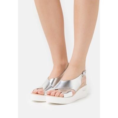 ウォリス  サンダル レディース シューズ SUNDIAL - Platform sandals - silver