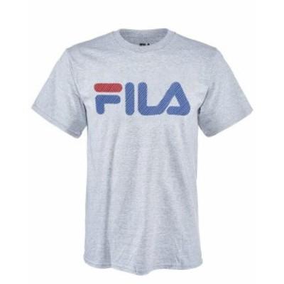 fila フィラ ファッション トップス Fila Herren Kurze Armel Logo Grafik T-Shirt mit Rundhalsausschnitt