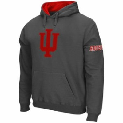 Stadium Athletic スタジアム アスレティック スポーツ用品  Stadium Athletic Indiana Hoosiers Charcoal Big Logo Pullover Hoodie