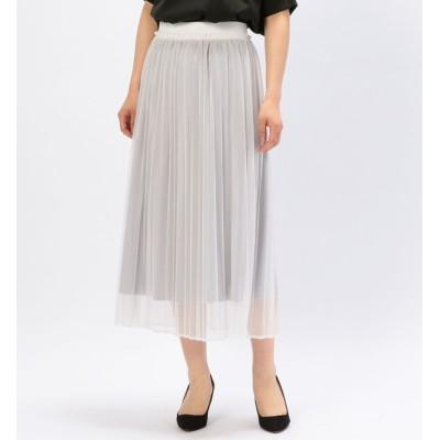 【アルカリ/alcali】 nota della mano sinistra/メッシュプリーツスカート