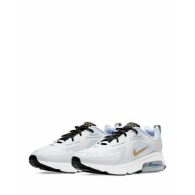 ナイキ レディース スニーカー シューズ Women's Air Max 200 Low-Top Sneakers White/Gold