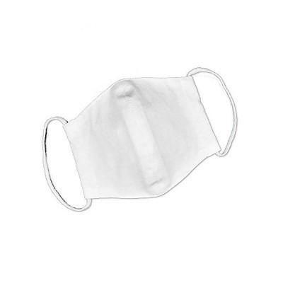Kaiteky 洗えるコットンタッチ布マスク 2枚組 日本製 (コットンホワイト2枚組, ふつう(S 大人?児童サイズ 幅17cm 高さ11