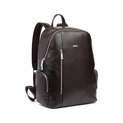 (新品) BOSTANTEN Leather Backpack College Laptop Travel Camping Shoulder Bag Gym Sports Bags for Men Coffee